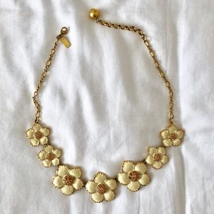 Kate Spade Cream and Gold Flower Necklace